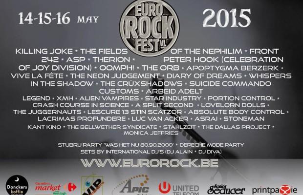 Eurorock 2015 Flyer - Stand: Februar 2015