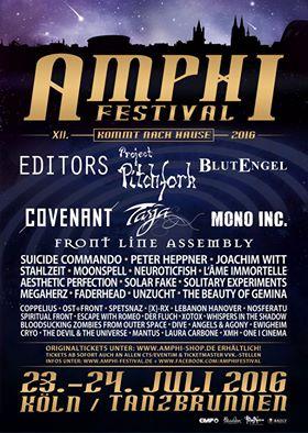 Amphi Festival 2016 - Tanzbrunnen Flyer