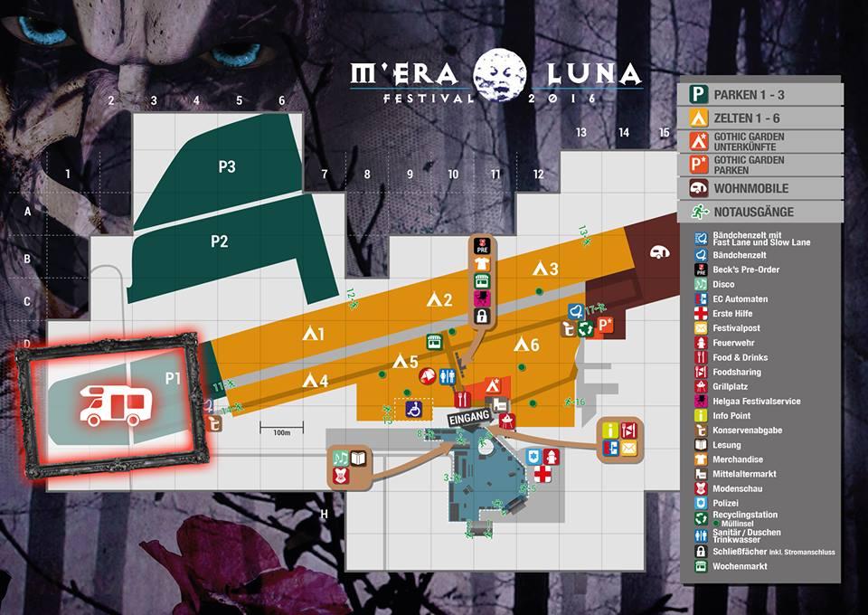 Neue Stellplätze für Wohnmobile beim M'era Luna 2017