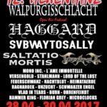 Walpurgisschlacht und Hexentanz Festival 2017 - Flyer