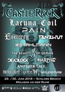 Programmflyer: Castle Rock Festival 2018