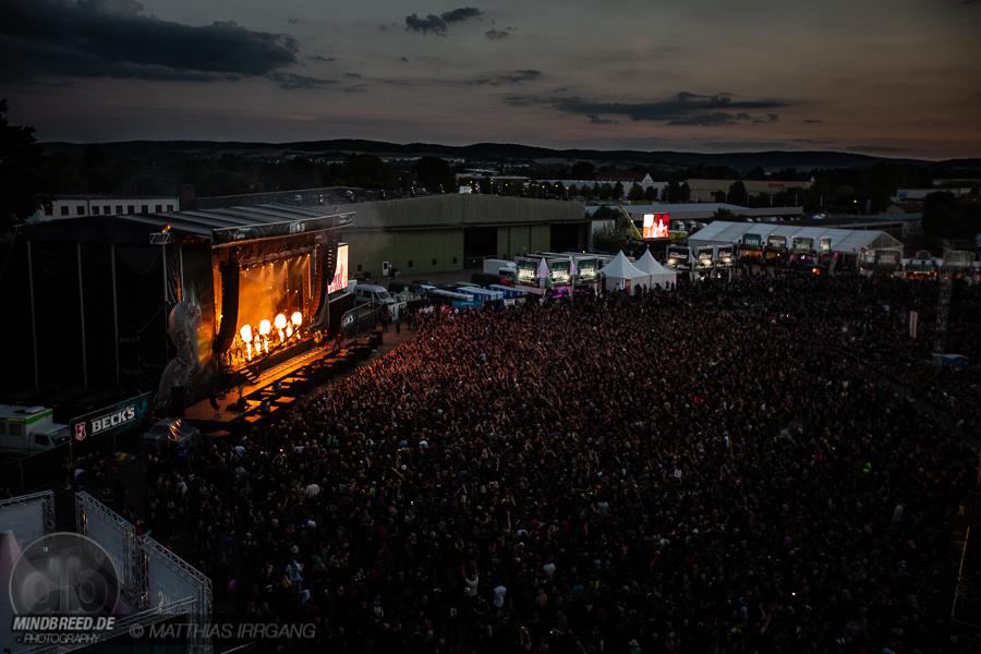 Blick über das M'era Luna Festival 2018