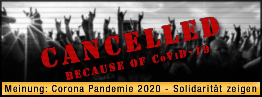 Meinung: Corona Pandemie 2020 - Solidarität zeigen