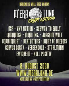 M'era Luna Festival 2020 - Crypt Edition Flyer
